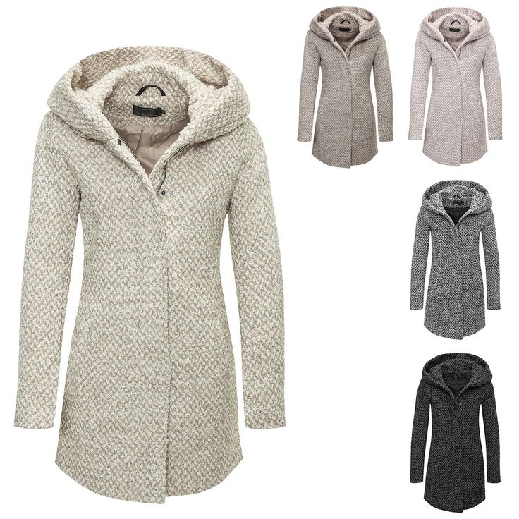Only Damen Wollmantel Kurzmantel Übergangs & Winter Mantel Winterjacke Parka NEU in Kleidung & Accessoires, Damenmode, Jacken & Mäntel | eBay