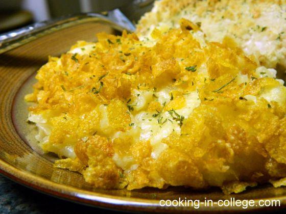 Cheesy Potato Casserole (with Ore-Ida Hash Browns)