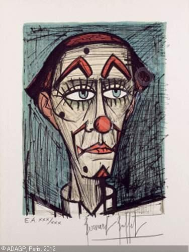 Bernard Buffet, Clown, 19xx