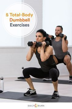 These compound exercises call for using dumbbells in creative ways. Put them together for a one-stop cardio and strength dumbbell workout. via @dailyburn