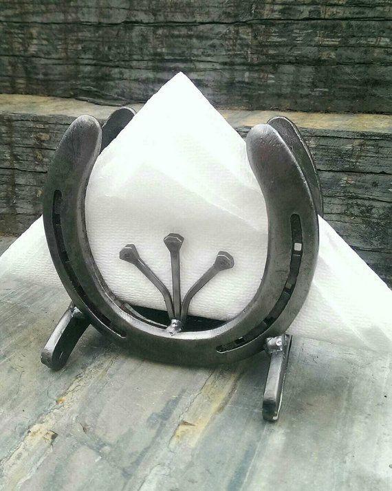 Best 25 napkin holders ideas on pinterest wedding for Horseshoe project ideas