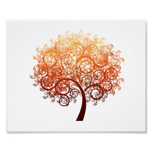 Curly Tree Poster (standard picture frame size) #trees  #zazzle