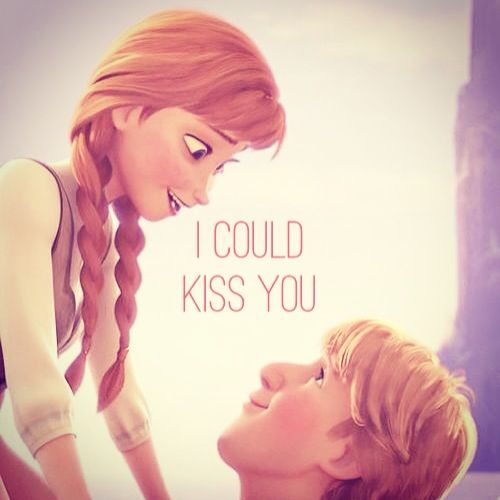 frozen disney anna and kristoff kiss