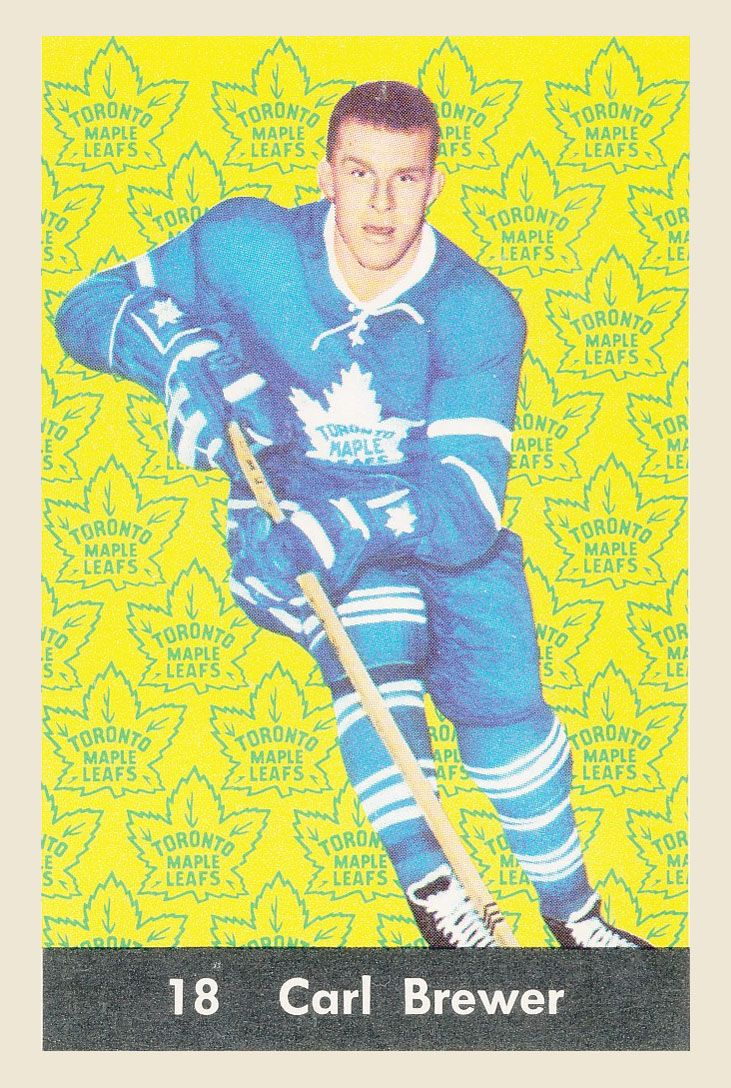 Carl Brewer  1961-62  Parkhurst Hockey Card