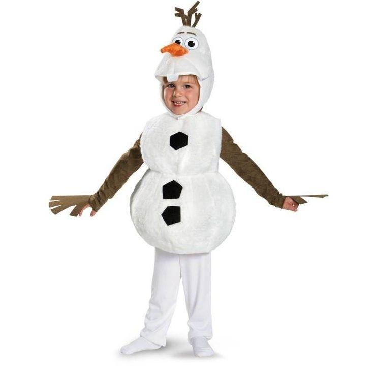 Deluxe olaf trang phục trẻ em movie cosplay quần áo dễ thương snowman halloween carnival đảng fancy dress