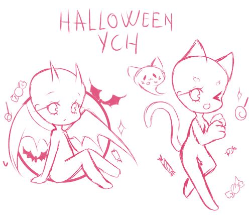 Halloween YCH auction [CLOSED] by Seraphy-chan