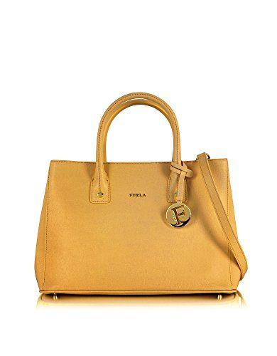 FURLA Furla Women'S 851002 Yellow Leather Handbag. #furla #bags #shoulder bags #hand bags #leather #