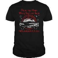 Supernatural - Deck the hails with sait and iron impla t-shirt