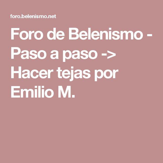 Foro de Belenismo - Paso a paso -> Hacer tejas por Emilio M.