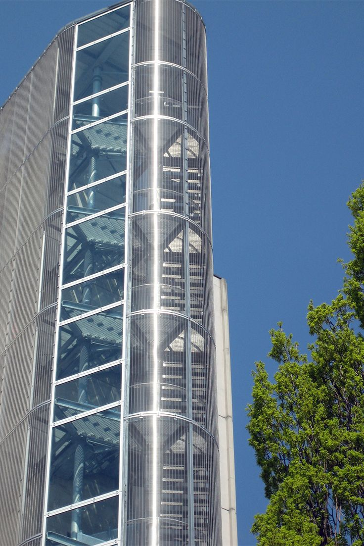 Stair Tower Cladding With Haver Architectural Mesh Doka