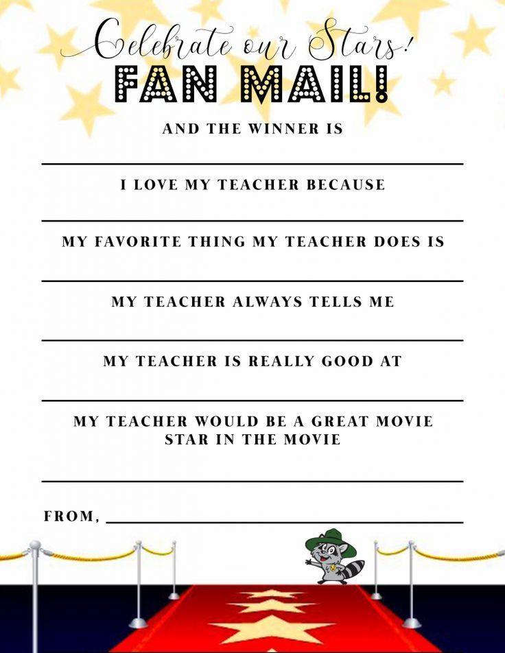 It is a graphic of Handy Teacher Appreciation Template