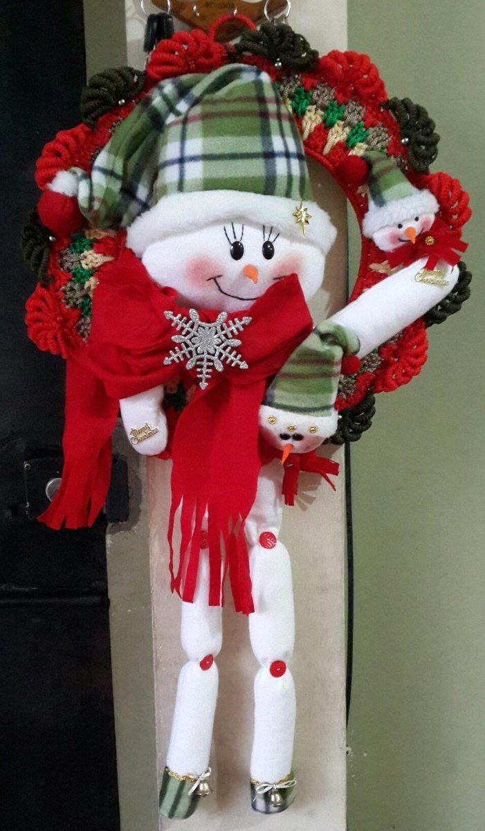 Coronas navide as tejidas buscar con google mu ecos for Arreglo para puertas de navidad