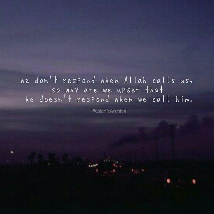 Respond to Allah.