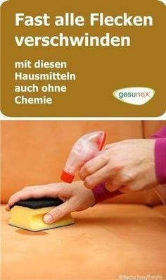 Bei Flecken muss nicht immer Chemie eingesetzt werden. Es können auch bewährte Hausmittel mit eindeutigen Reinigungseffekten überzeugen.