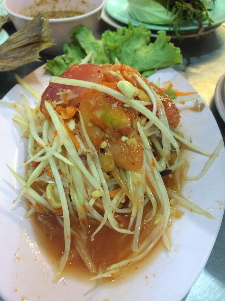 Another foodie from Thailand. Somtam or damtay, made of papaya and lots of herbs! U can have it spicy or not so spicy, either wAy its superb!