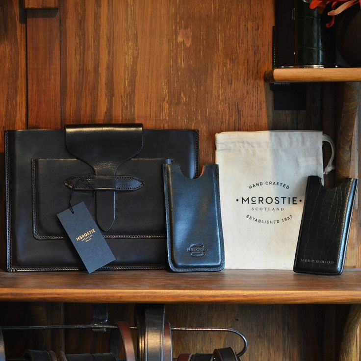 McRostie handmade leather accessories - iPad and iPhone cases