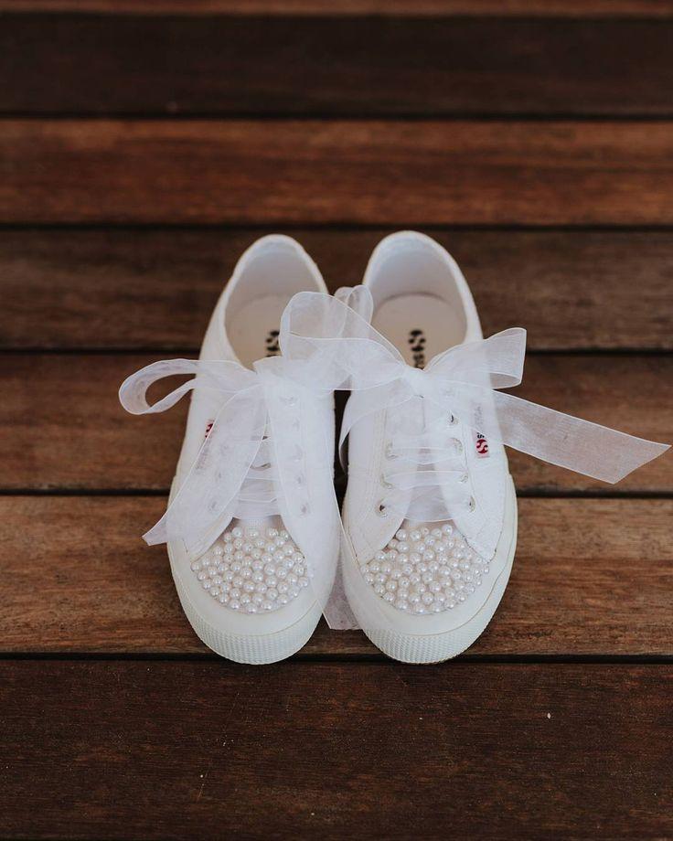Flat bridal shoes | custom made Superga | DIY Destination wedding in Alonnisos island, Greece