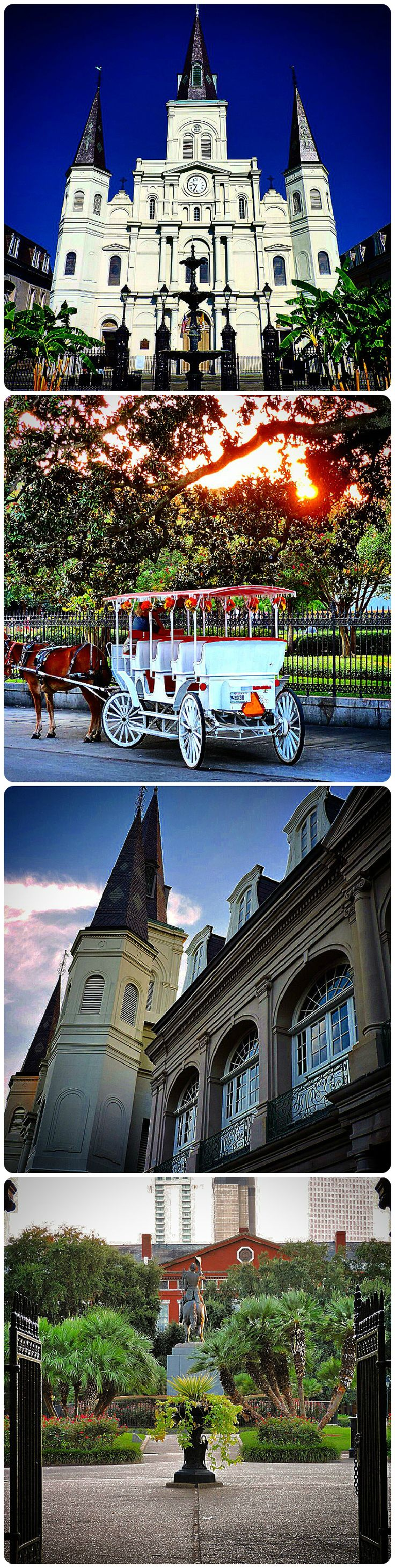 St. Louis Cathedral & Jackson Square in New Orleans, Louisiana