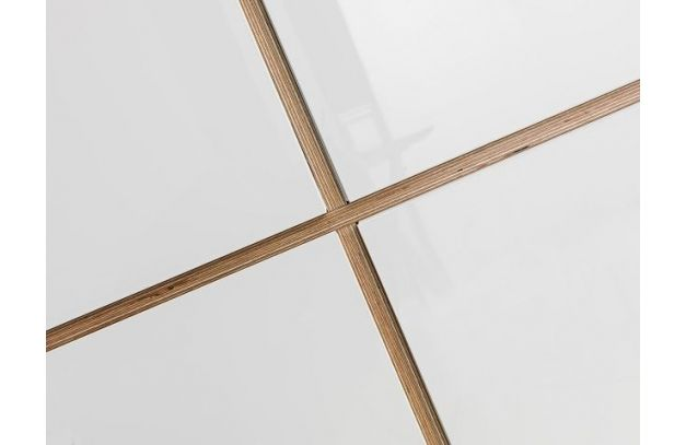 Pywood details with white acrylic front - Snabb #plywood #furniture #sklejka #meble