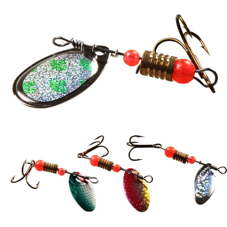 Promotion 30Pcs Spinners Spoon Fishing Lure Pike Salmon Lures Various Assorted Laser Spinners Spoon Rotating Bait Fishing Lure