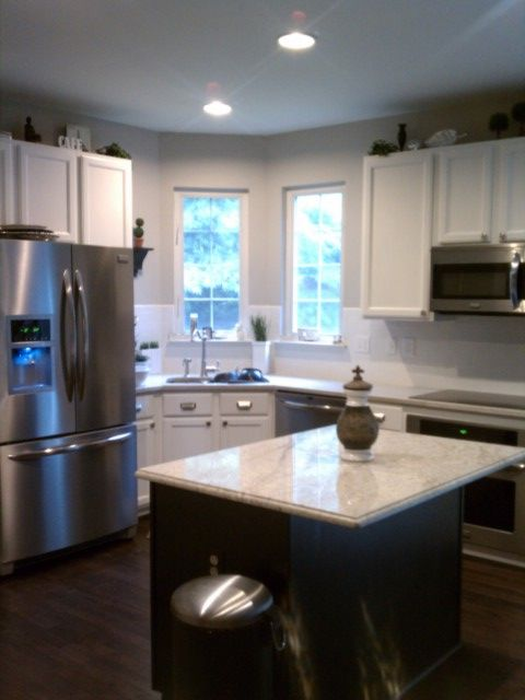 Benjamin Moore Revere Pewter on the walls- pale neutral gray