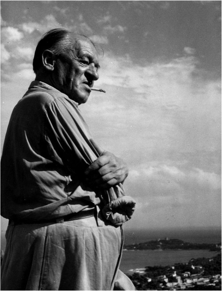 Blaise Cendrars (Swiss-born novelist and poet) 1948 by Robert Doisneau