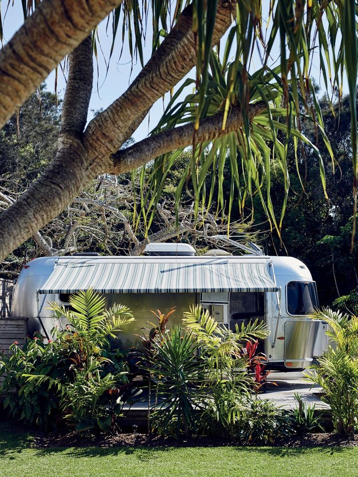 The Airstream trailer suite at the Atlantic hotel in Byron Bay.