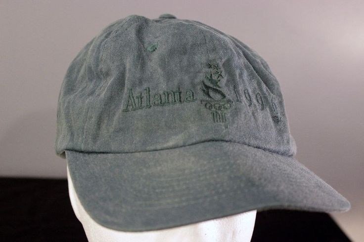 1996 Atlanta Olympics Baseball Cap Snapback Hat Green Adjustable One Size Games #Hanes #Snapback