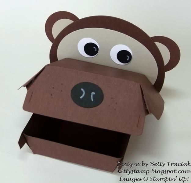 Hamburger Box Critters- Bear by kittystamp - Cards and Paper Crafts at Splitcoaststampers