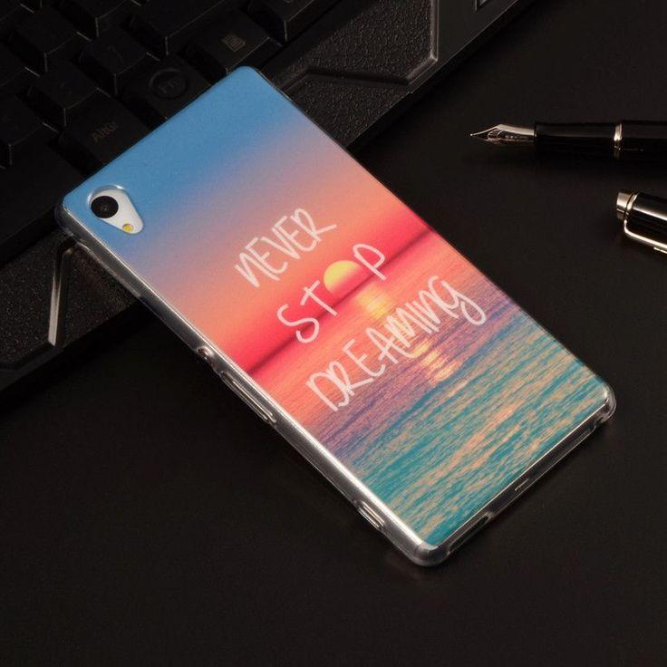 Soft Plastic Silicon Rubber Case For Sony Xperia M4 Aqua Dual E2303 E2333 E2353 Cartoon Phone Cases Protective TPU Cover