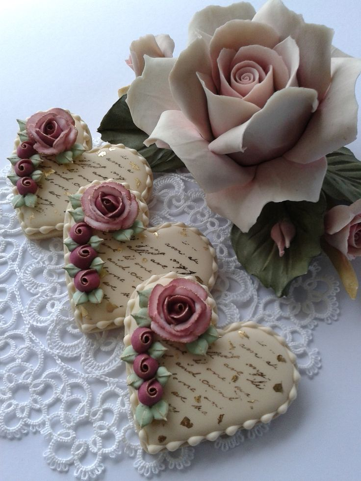 cookie hearts and roses