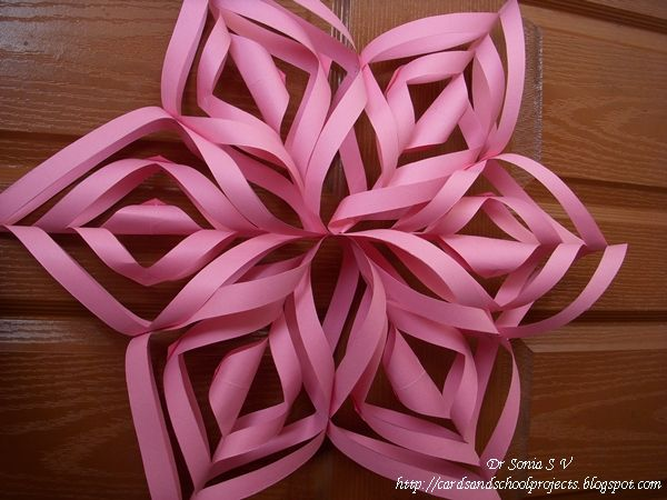 Cards ,Crafts ,Kids Projects: Spectacular Paper Flower Star Decoration Tutorial