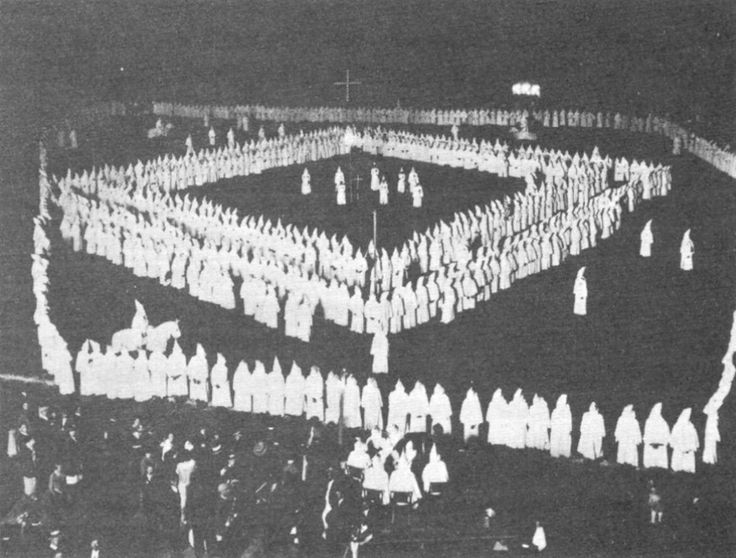 "The 2nd ""KKK"" (Ku Klux Klan) white supremacy group peaked in the 1930's with about 3 to 6 million members arround the country. The kkk was a massive anti-black, anti-immigrant, and anti-Jewish group. This was also arround the time TKAM takes place."
