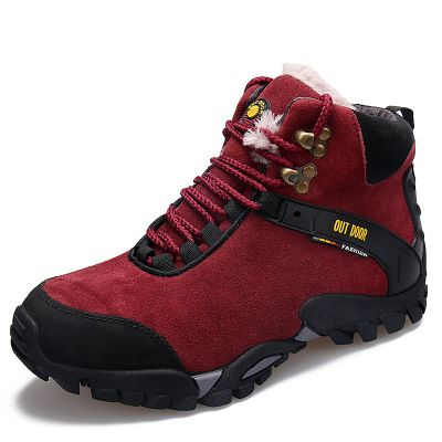 2016 осенние и зимние виды спорта на открытом воздухе кожа противоскользящая кроссовки пару моделей плюс бархат на открытом воздухе обувь фабрика точек
