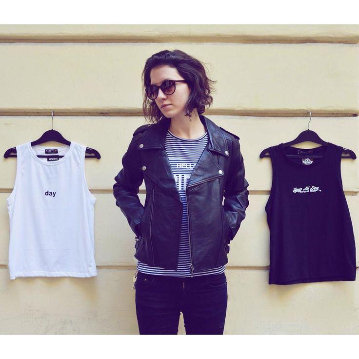 Sheena is a punk rocker  dailylook rockandroll inspired outfit szputnyikshop vintage basic tanktop crybaby streetstyle