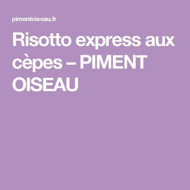 Risotto express aux cèpes – PIMENT OISEAU