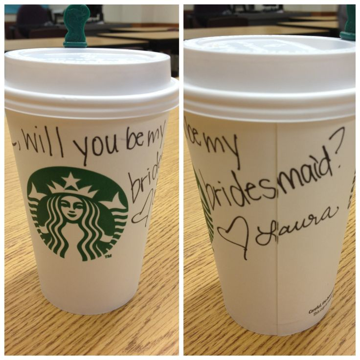 This is how I asked one of my best friends to be my bridesmaid! She loved it!: Insanity Creative, Questions Barista Styl, Best Friends, Be My Bridesmaid, Bridesmaid Ideas, Coffee Cups, Ask Bridesmaid, Bridal Parties, Bridesmaid Proposals