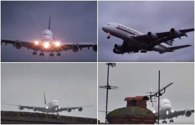 Dramatyczne nagranie potężnego Airbusa lądującego z bocznym wiatrem - Wiadomości - WP.PL
