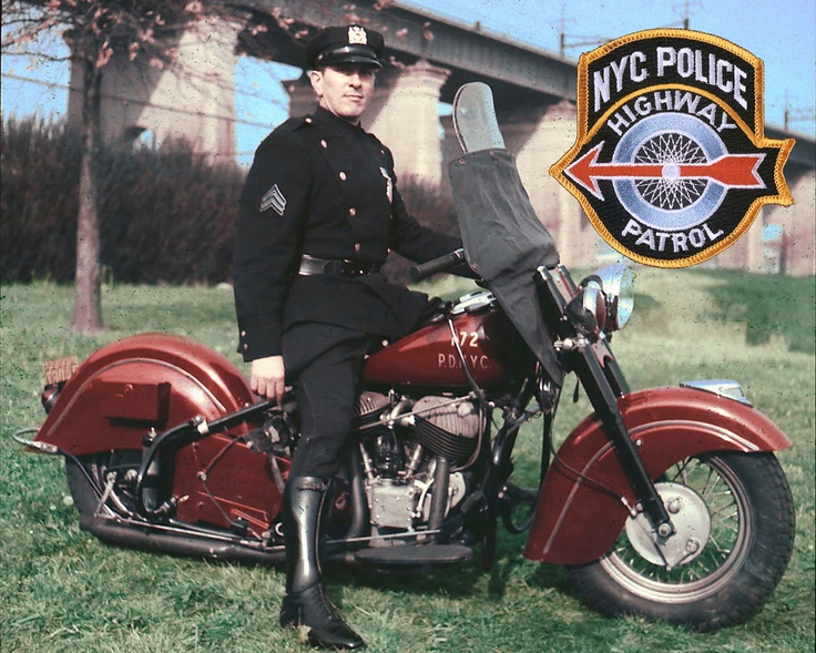 New York City Police Department Photo Unit, 1951   ➜ Indian Police Motorcycle Timeline