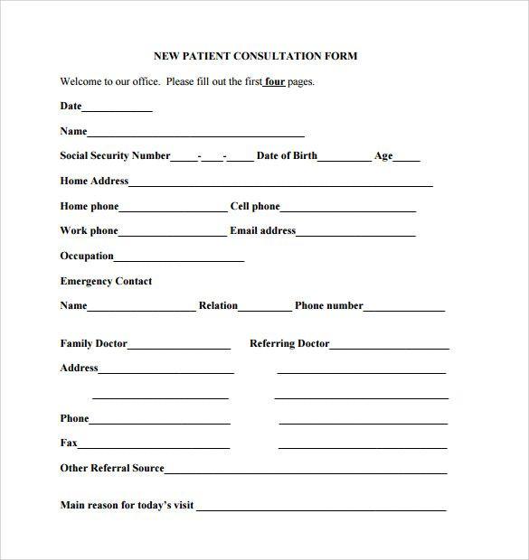 Sample Templates Sample Medical Consultation Form 11 Download Free Documents In 970d68da Resumesample Resumefor Doctor Note Free Dental Referrals