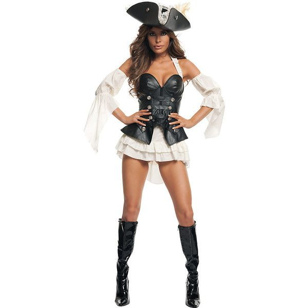 womens sexy black pearl pirate costume 75 liked on polyvore featuring costumes - Halloween Jack Costume