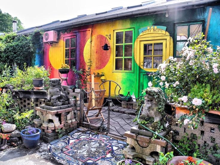 Nice house in Christiania, Copenhagen in Denmark