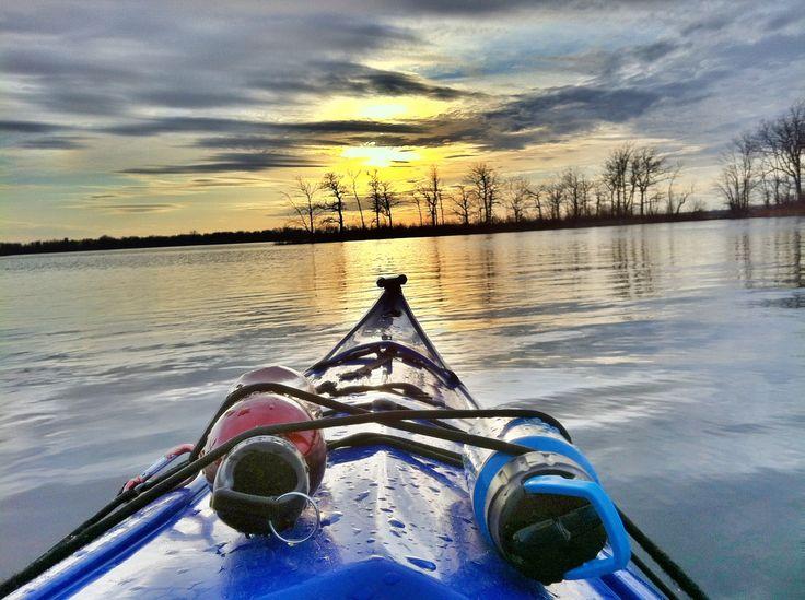 Kayak sunrise #kayK #kayaker #kayaking