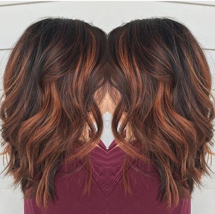 Red brown balayage by Rebecca at Avante Salon and Spa, West Chester PA (Hair Color Auburn)