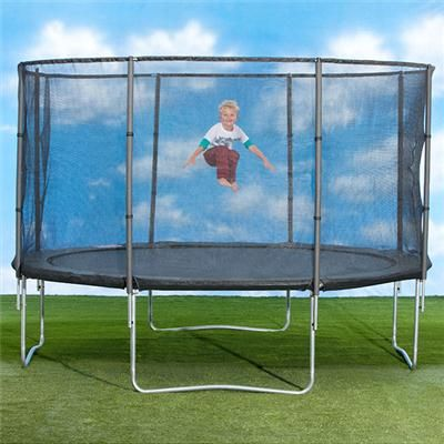 12ft Springless Trampoline with Enclosure
