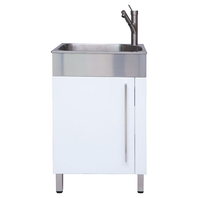 Westinghouse Stainless Steel Laundry Sink With Cabinet 10