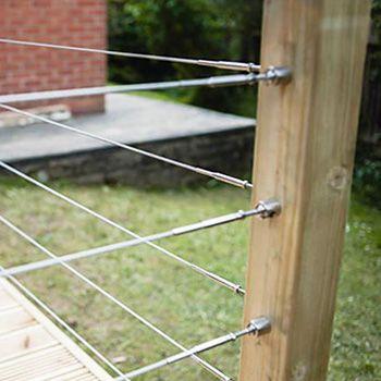 Flat Surface Mount Balustrade Wire Kit - DIY Self Assembly