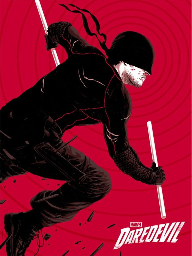 Mondo Daredevil Poster Epic Daredevil, Jessica Jones & Luke Cage Mondo Posters Now Available