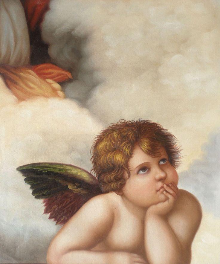 Открытка ангелы сикстинской мадонны, золушка моет пол