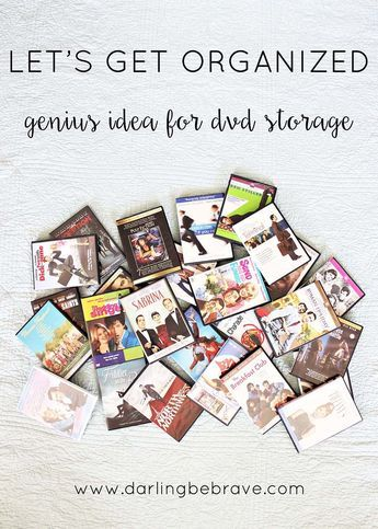 let's get organized: dvd storage solution. { via darlingbebrave.com }